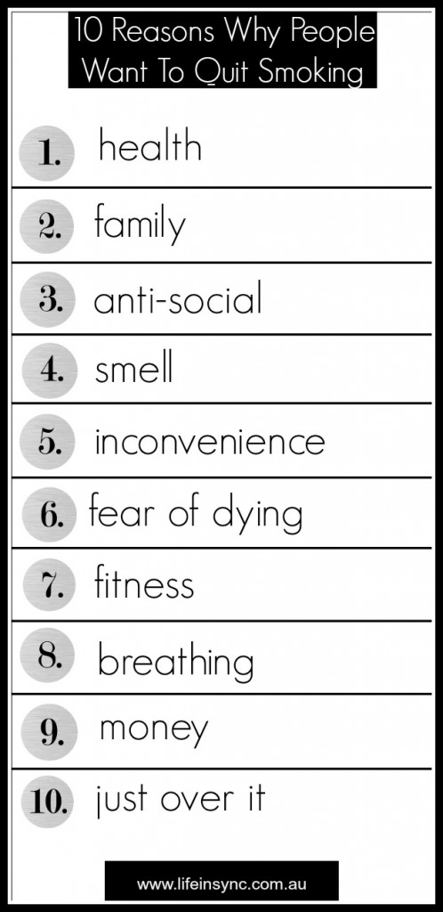 10 reasons to quit